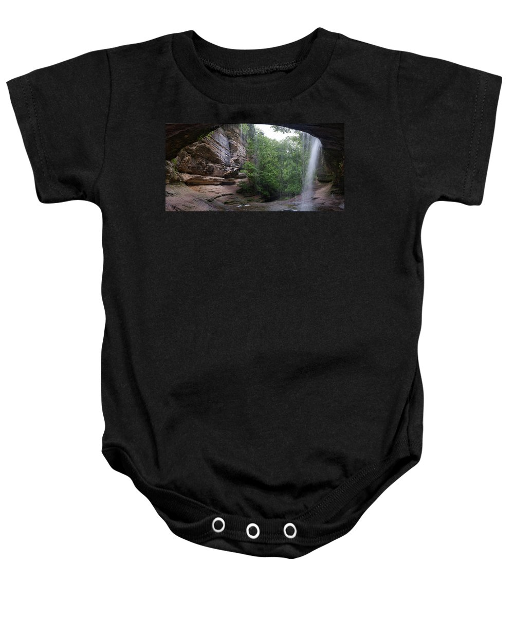 Lasalle Baby Onesie featuring the photograph Lasalle Canyon Starved Rock State Park by Steve Gadomski