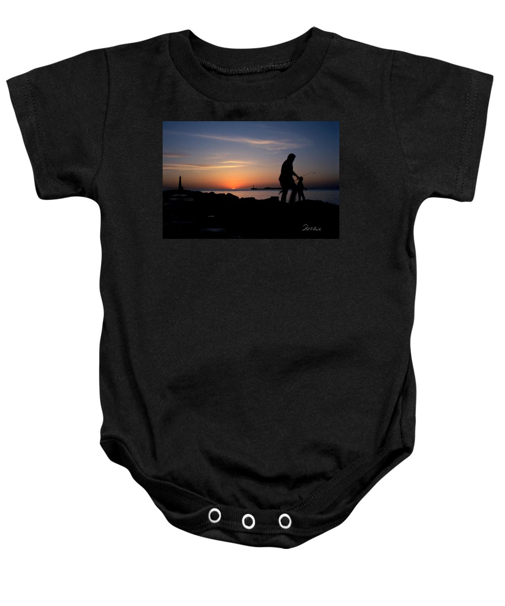 Color Baby Onesie featuring the photograph Last Catch Of The Day by Frederic A Reinecke