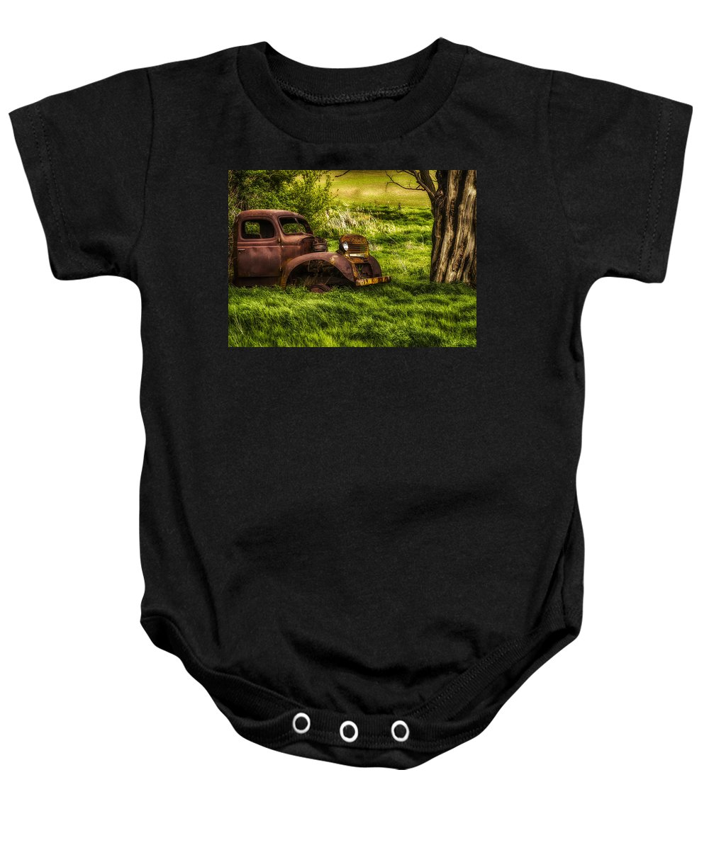 Agriculture Baby Onesie featuring the photograph Last Stop by John Trax