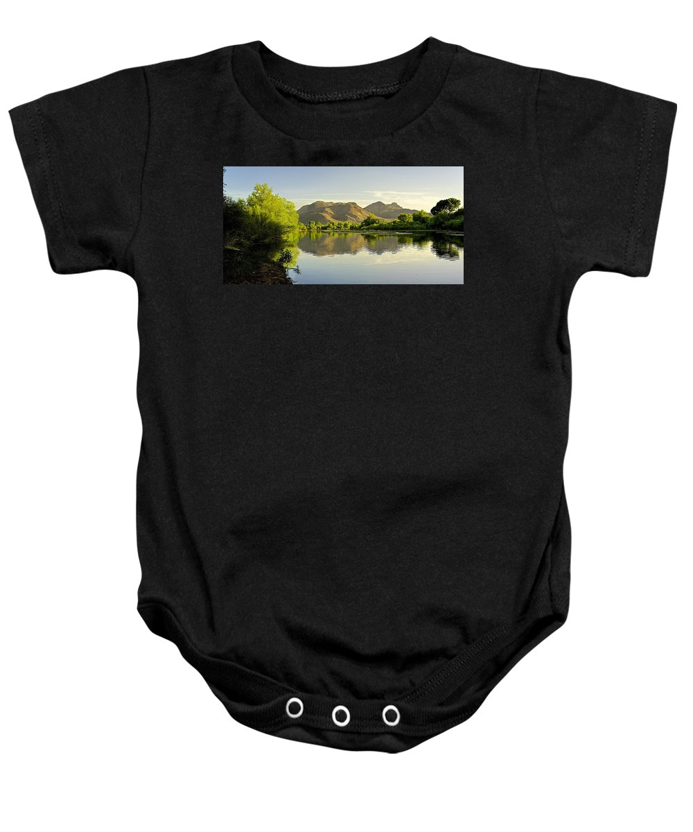 River Baby Onesie featuring the photograph Late Afternoon At Rio Verde River by Barbara Zahno