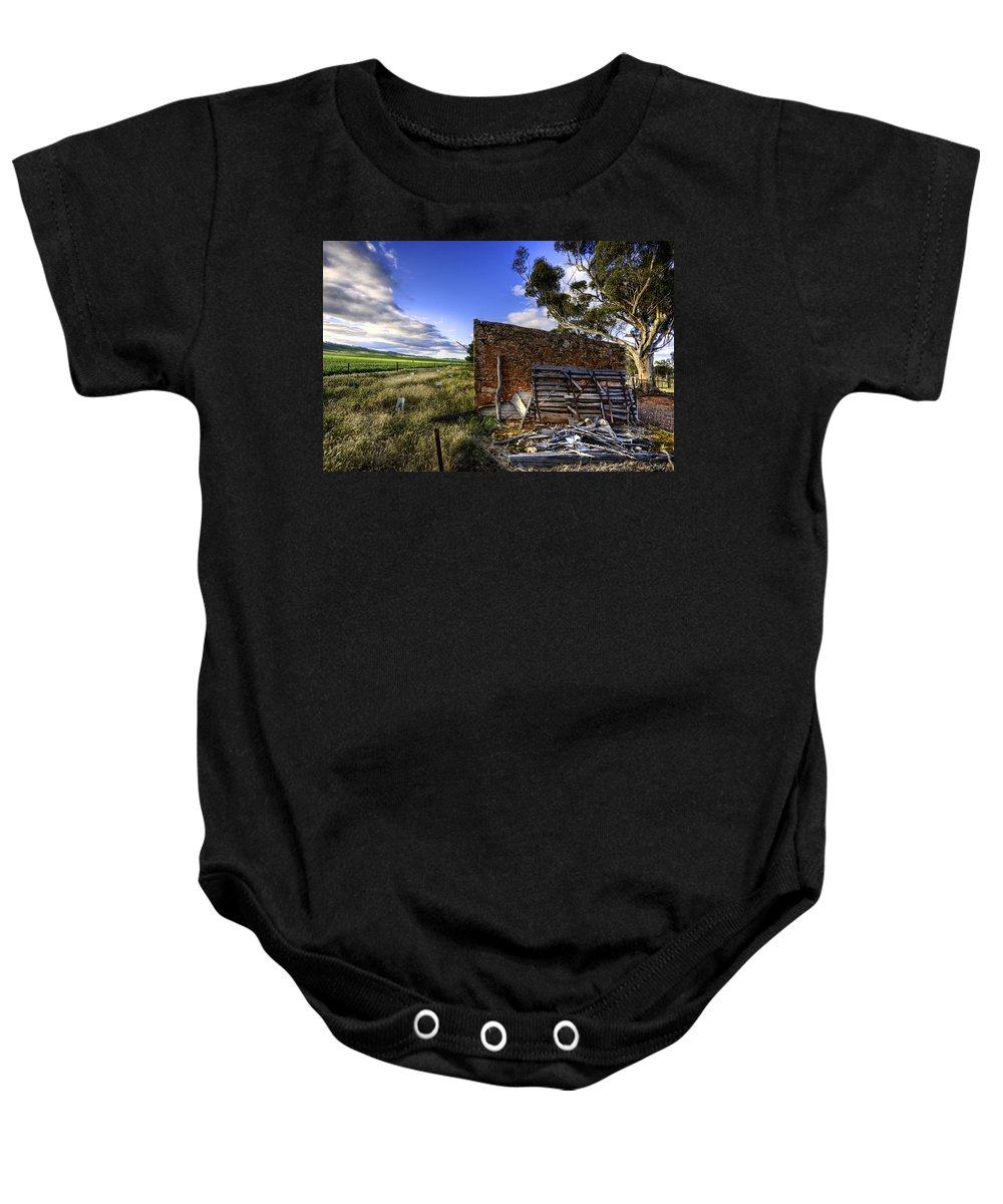 Farm Baby Onesie featuring the photograph Late Afternoon by Wayne Sherriff
