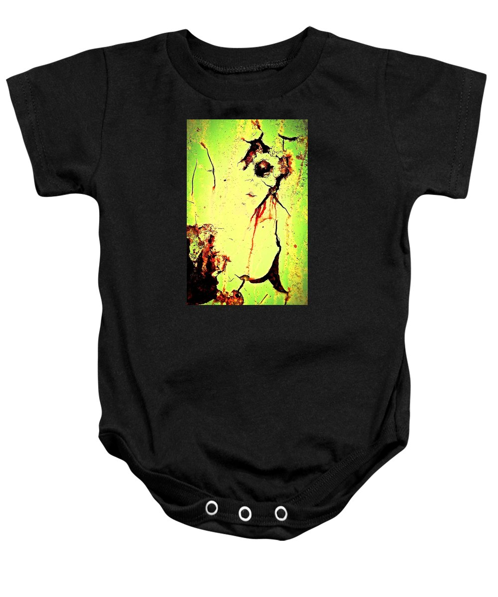 Abstract Art Baby Onesie featuring the photograph Bar Talk With Bela by David Coleman