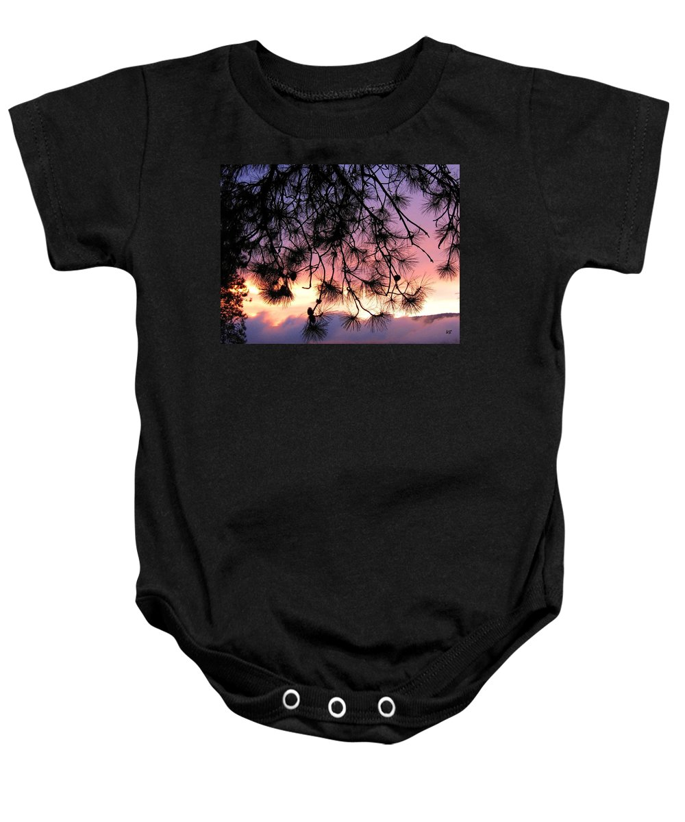 Sunset Baby Onesie featuring the photograph Lavender Sunset by Will Borden