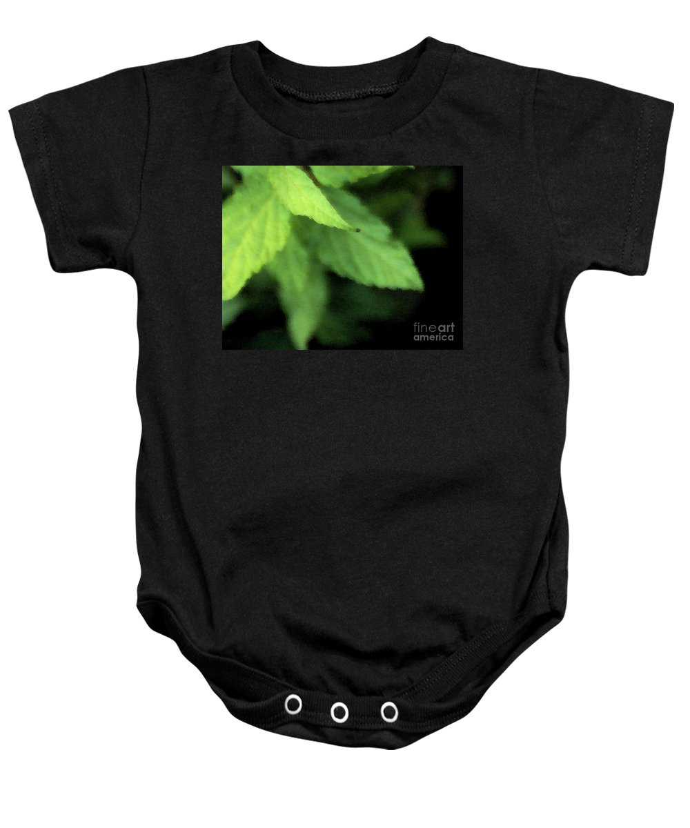 Leaves Baby Onesie featuring the photograph Layered Leaves by Linda Shafer