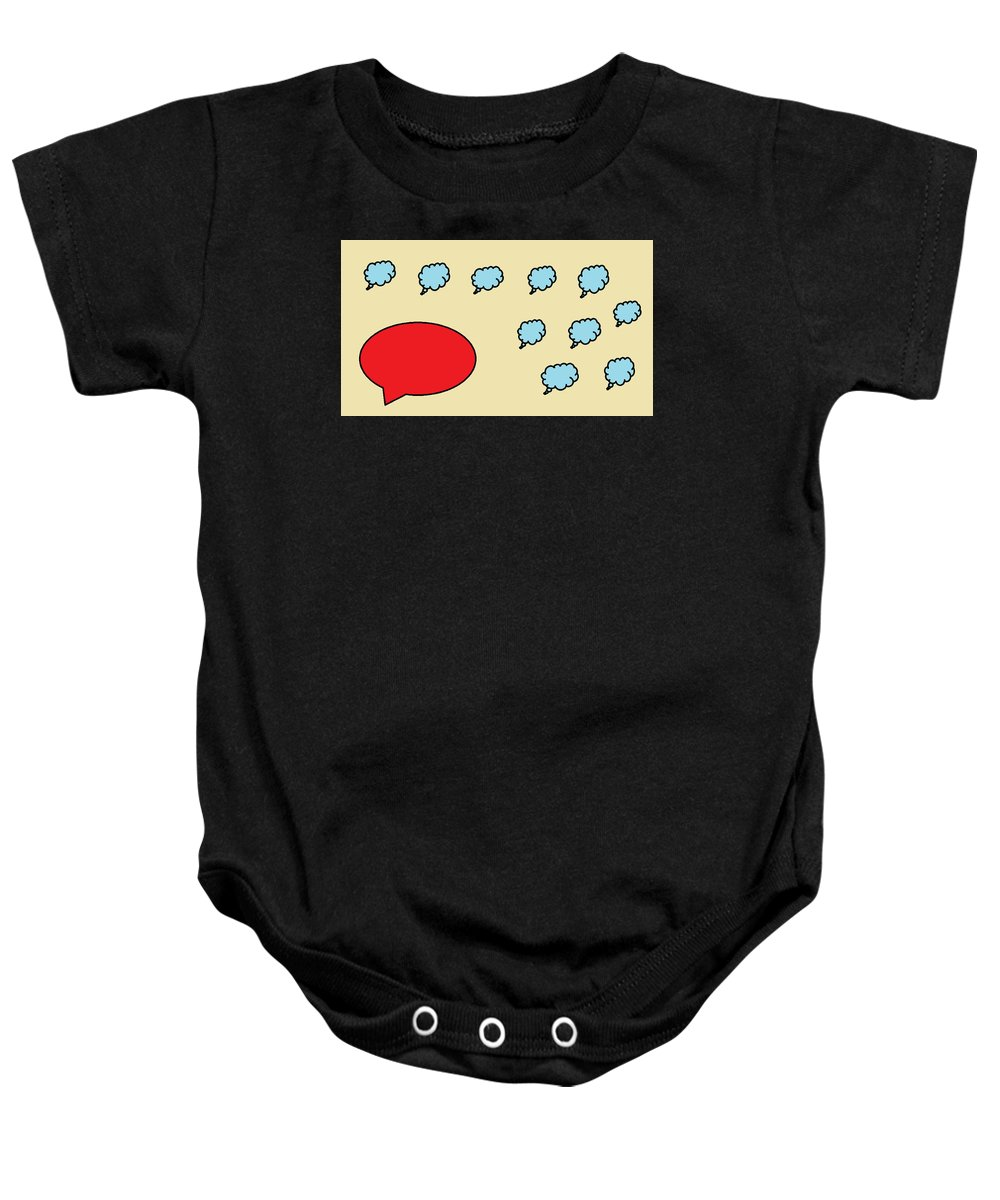 Baby Onesie featuring the digital art Leader And Follower by Aj