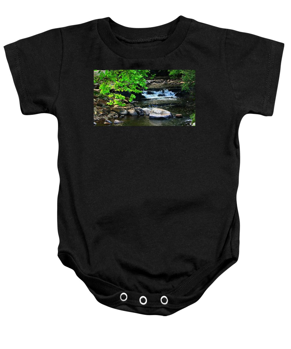 Stream Baby Onesie featuring the photograph Leave Me by Phil Cappiali Jr