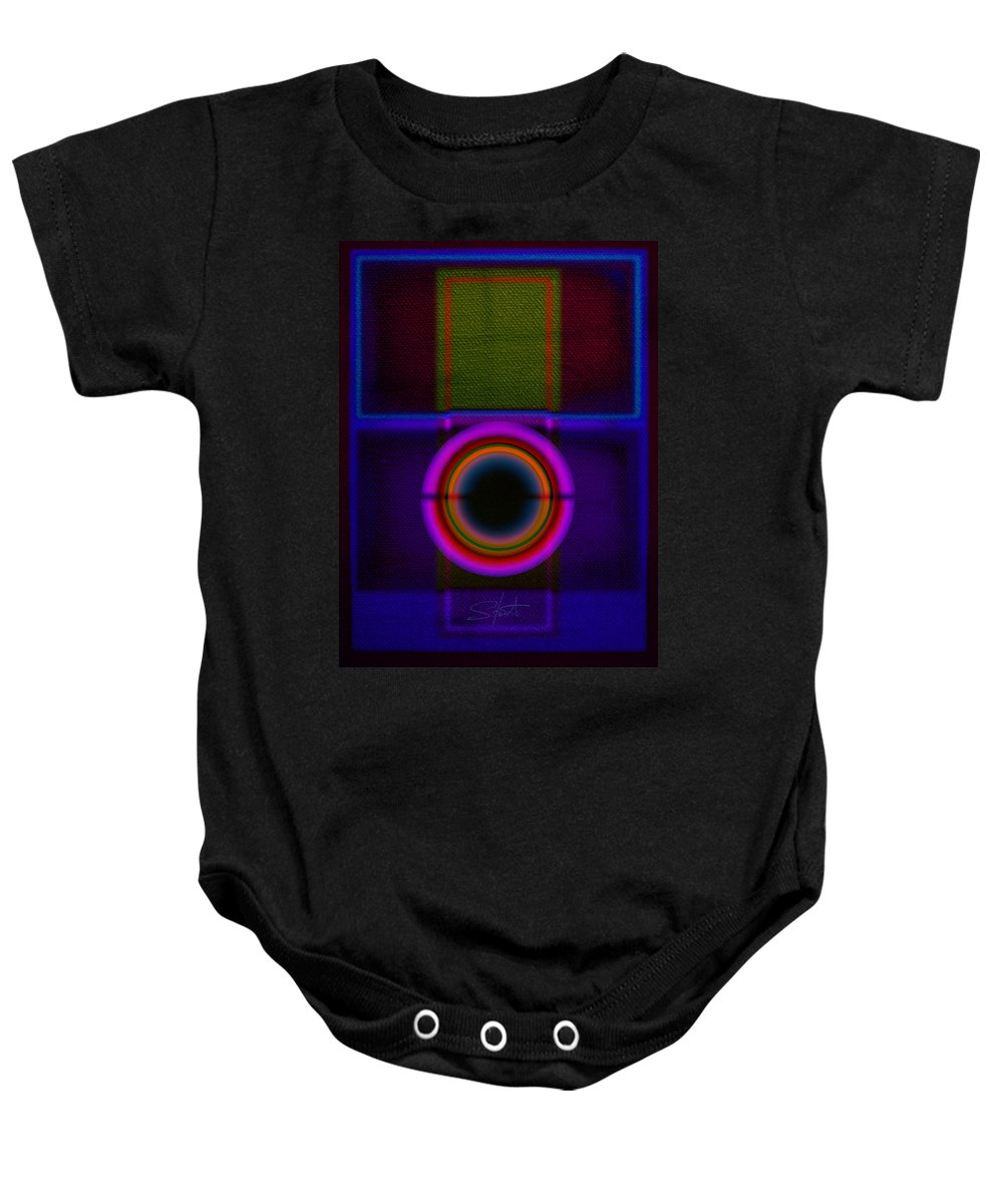 Portal Baby Onesie featuring the painting Leaving Lilac by Charles Stuart