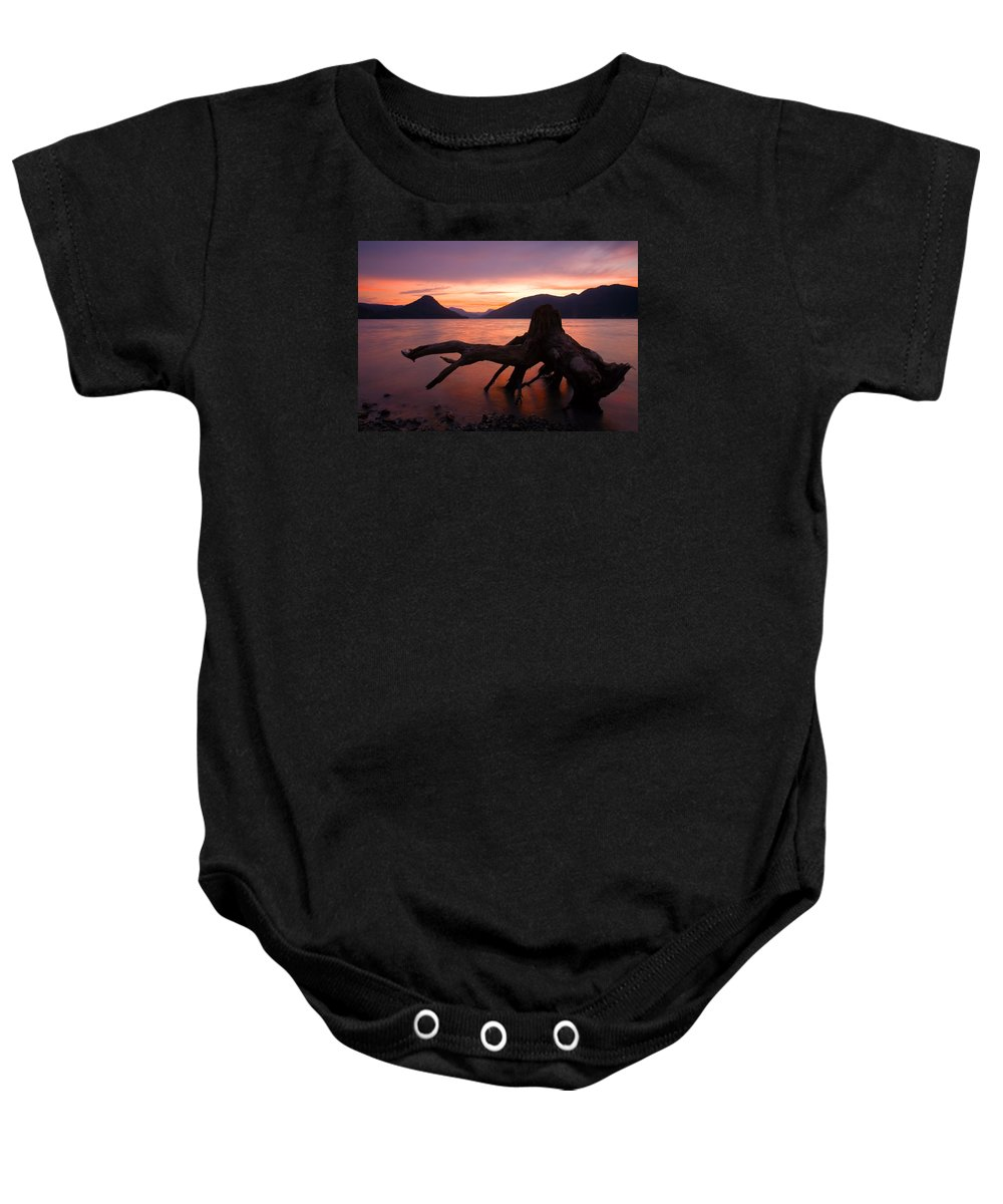 Stump Baby Onesie featuring the photograph Left Behind by Mike Dawson