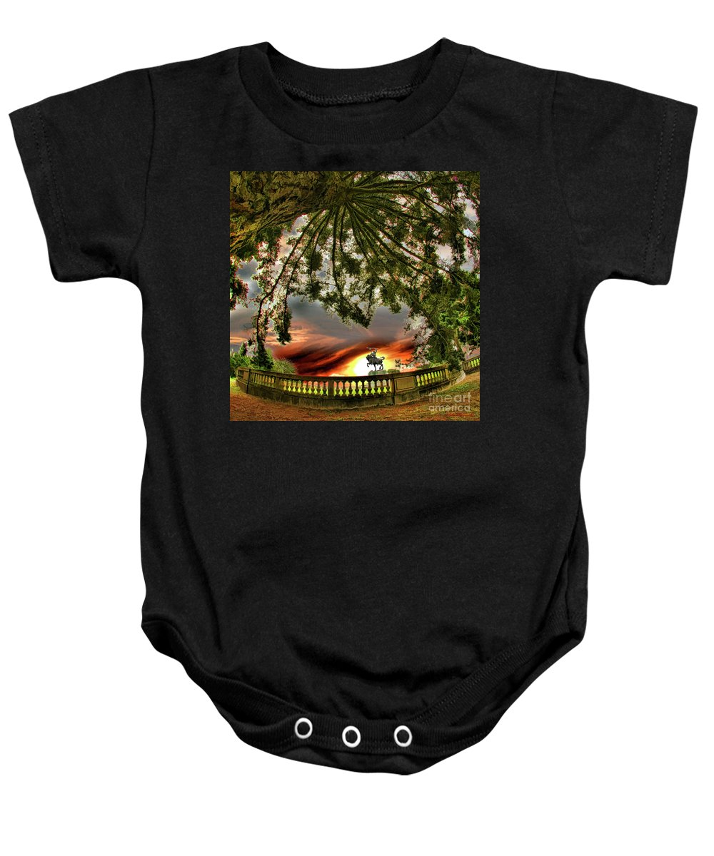 Legion Of Honor Baby Onesie featuring the photograph Legion Of Honor Horse by Blake Richards