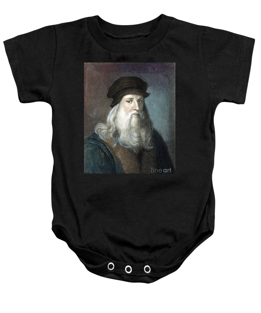 15th Century Baby Onesie featuring the photograph Leonardo Da Vinci - To License For Professional Use Visit Granger.com by Granger