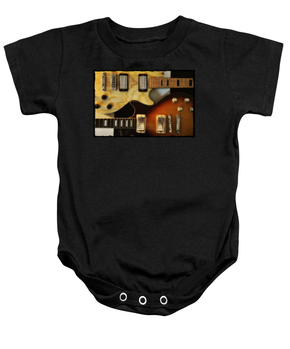 Les Paul Baby Onesie featuring the photograph Les Paul - Come Together by Bill Cannon