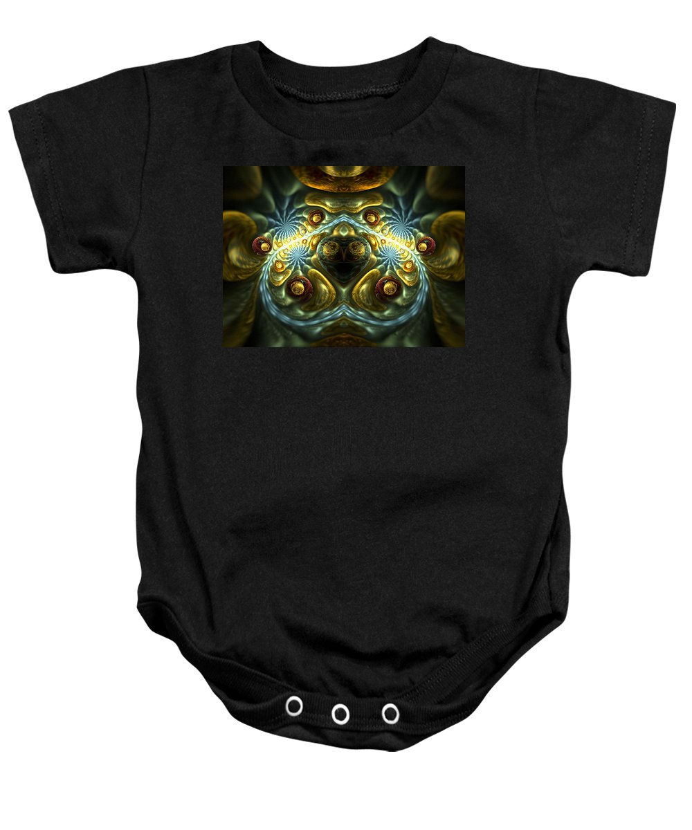 Fractal Baby Onesie featuring the digital art Let Your Feelings Flow by Amorina Ashton