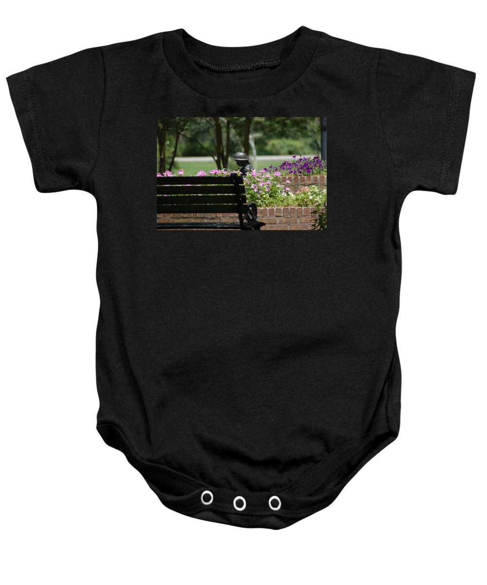 Garden Baby Onesie featuring the photograph Lets Rest by Donna Bentley