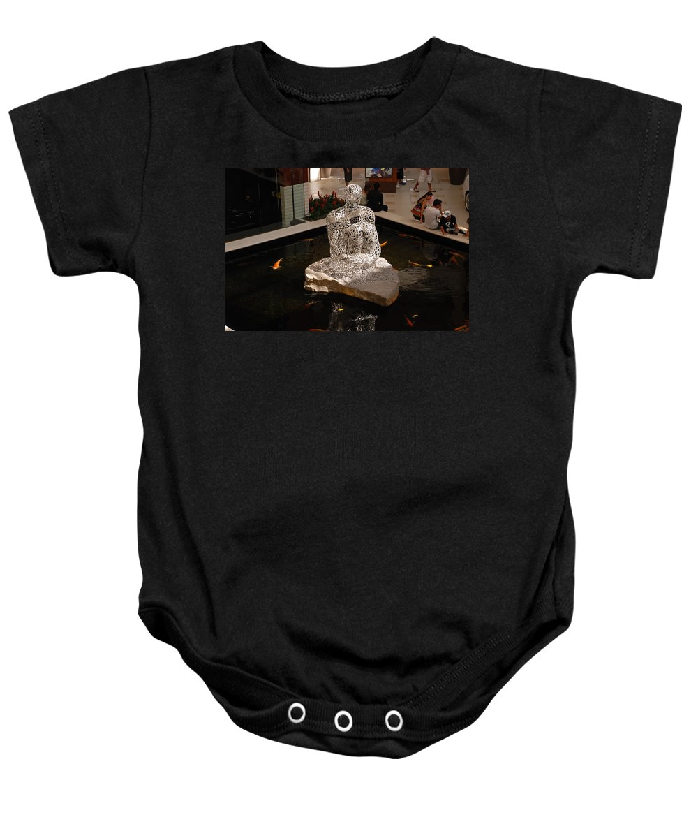 Letters Baby Onesie featuring the photograph Letterman By Coy by Rob Hans