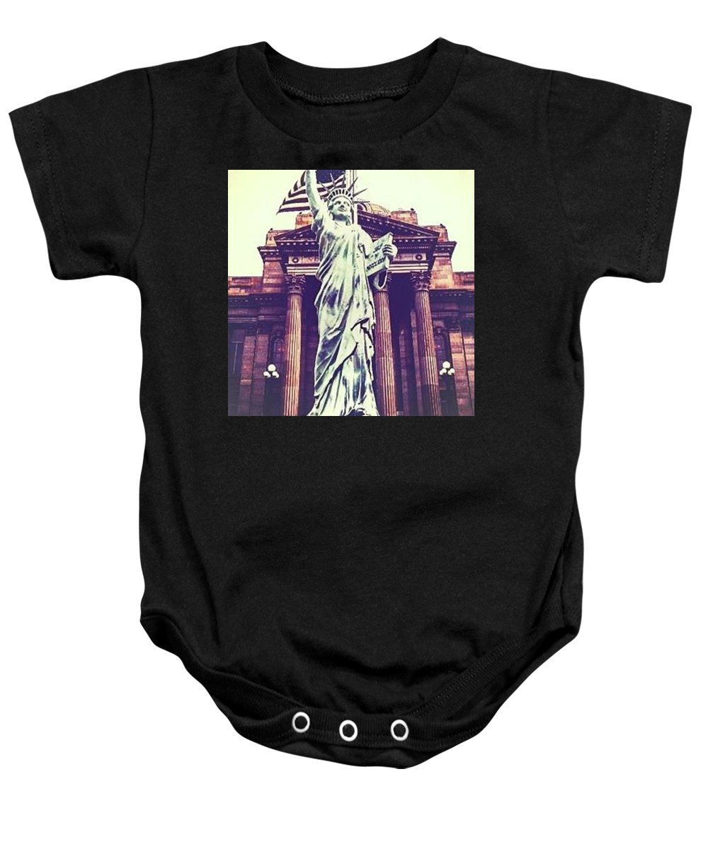 Court House Baby Onesie featuring the photograph Liberty by Aliens Abducted The Artist