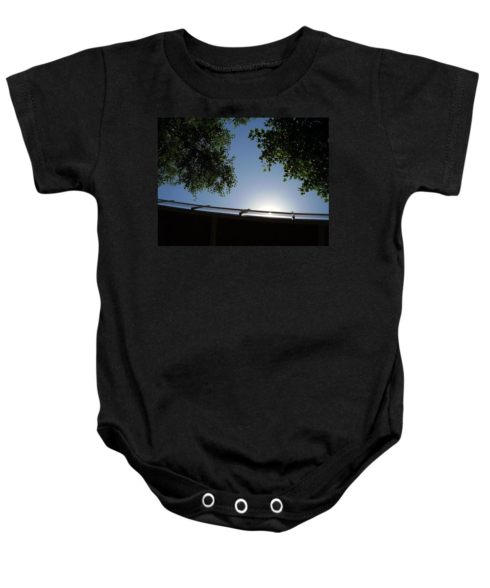 Liberty Bridge Baby Onesie featuring the photograph Liberty Bridge by Flavia Westerwelle