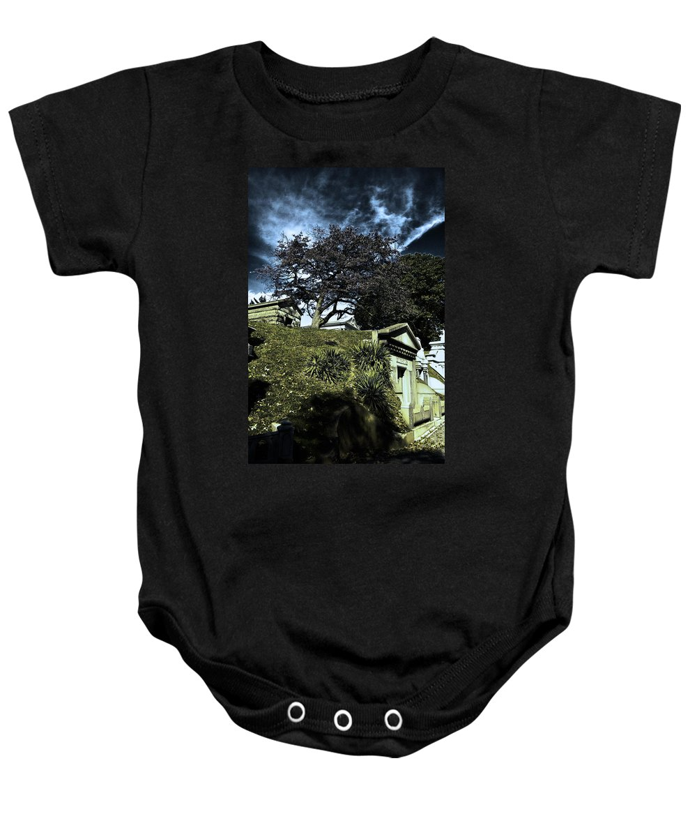 Cemetery Baby Onesie featuring the photograph Life From Death by Scott Wyatt