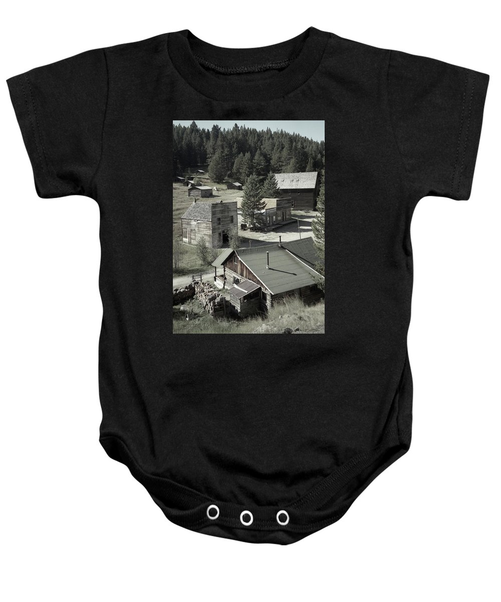 Ghost Towns Baby Onesie featuring the photograph Life In A Ghost Town by Richard Rizzo
