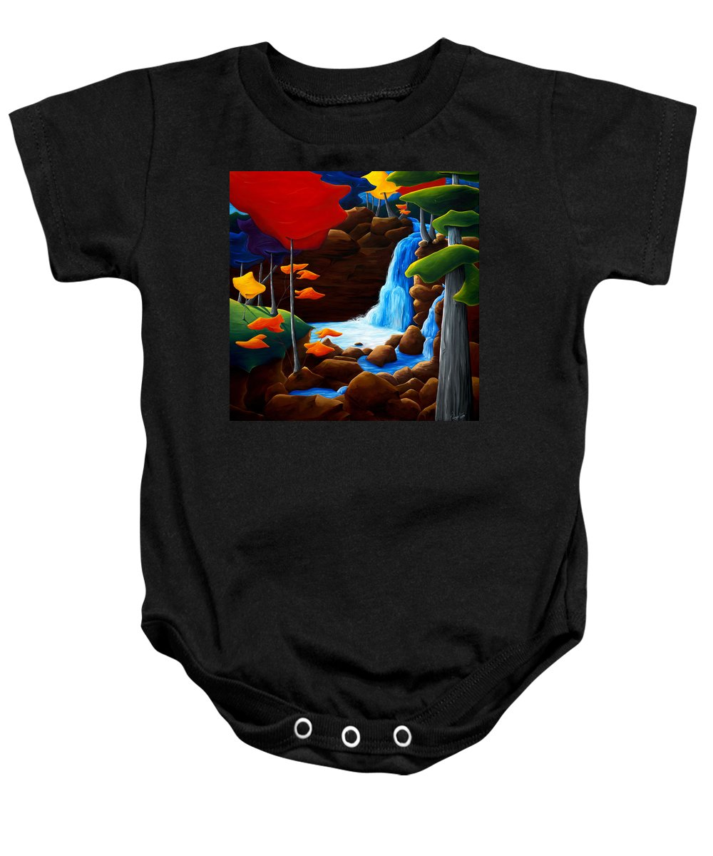 Landscape Baby Onesie featuring the painting Life In Progress by Richard Hoedl