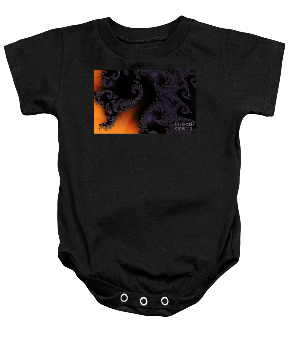 Clay Baby Onesie featuring the digital art Life Under Glass by Clayton Bruster