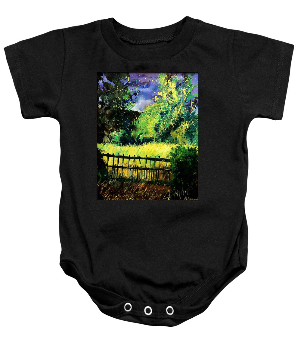 Spring Baby Onesie featuring the painting Light Before The Storm by Pol Ledent