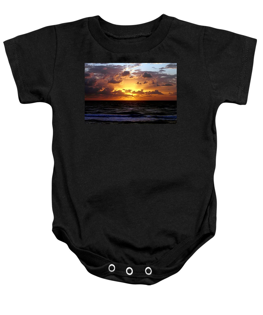 Sunrise Baby Onesie featuring the photograph Light by Francisco Colon