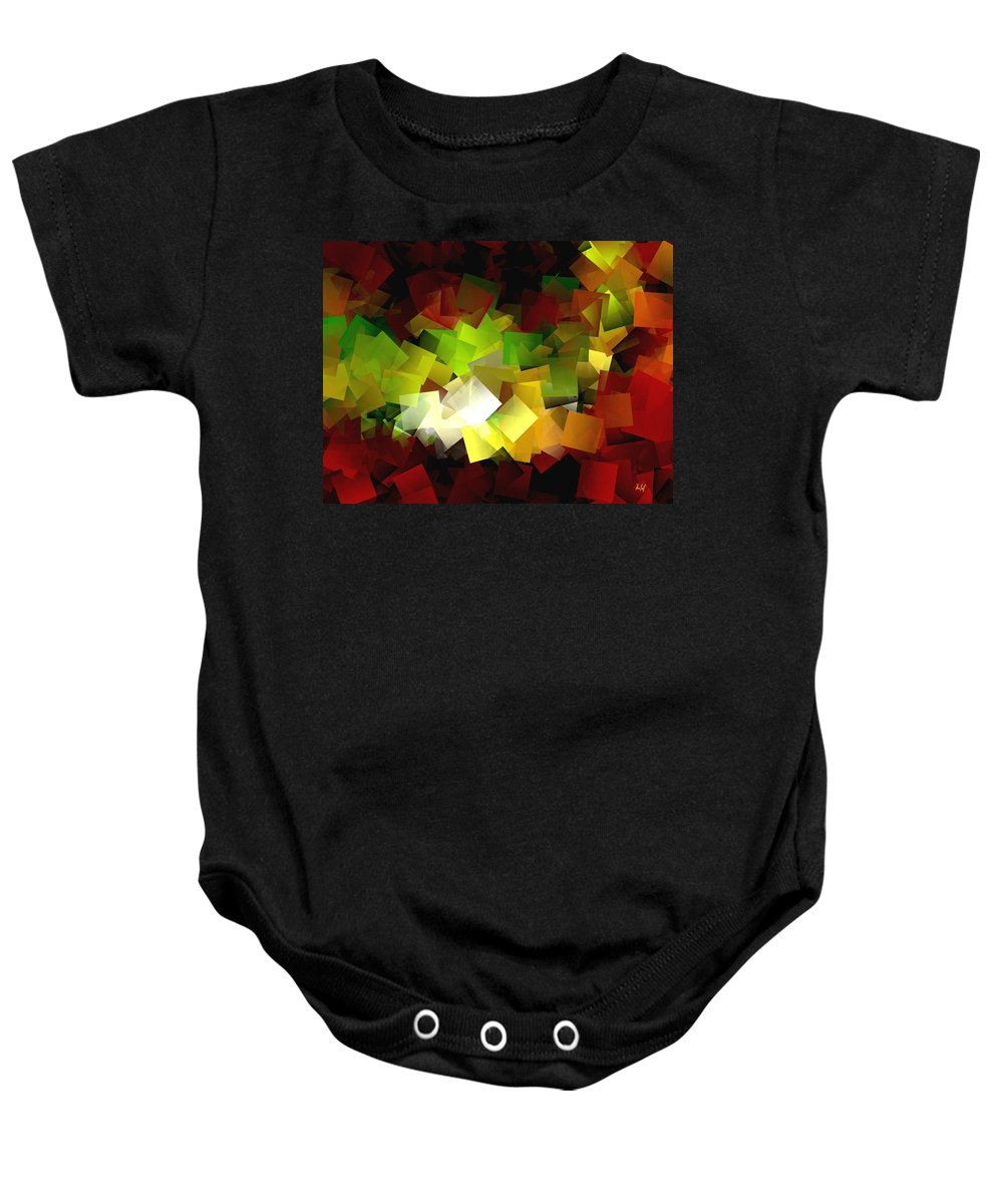 Kubic Baby Onesie featuring the digital art Light On The End Of Darkness by Helmut Rottler