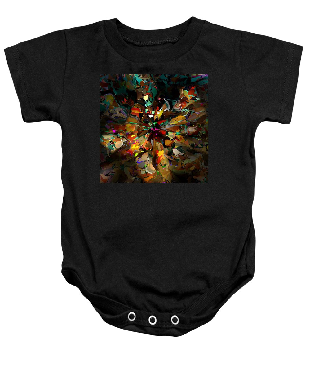 Fine Art Baby Onesie featuring the digital art Light Play 071315 by David Lane