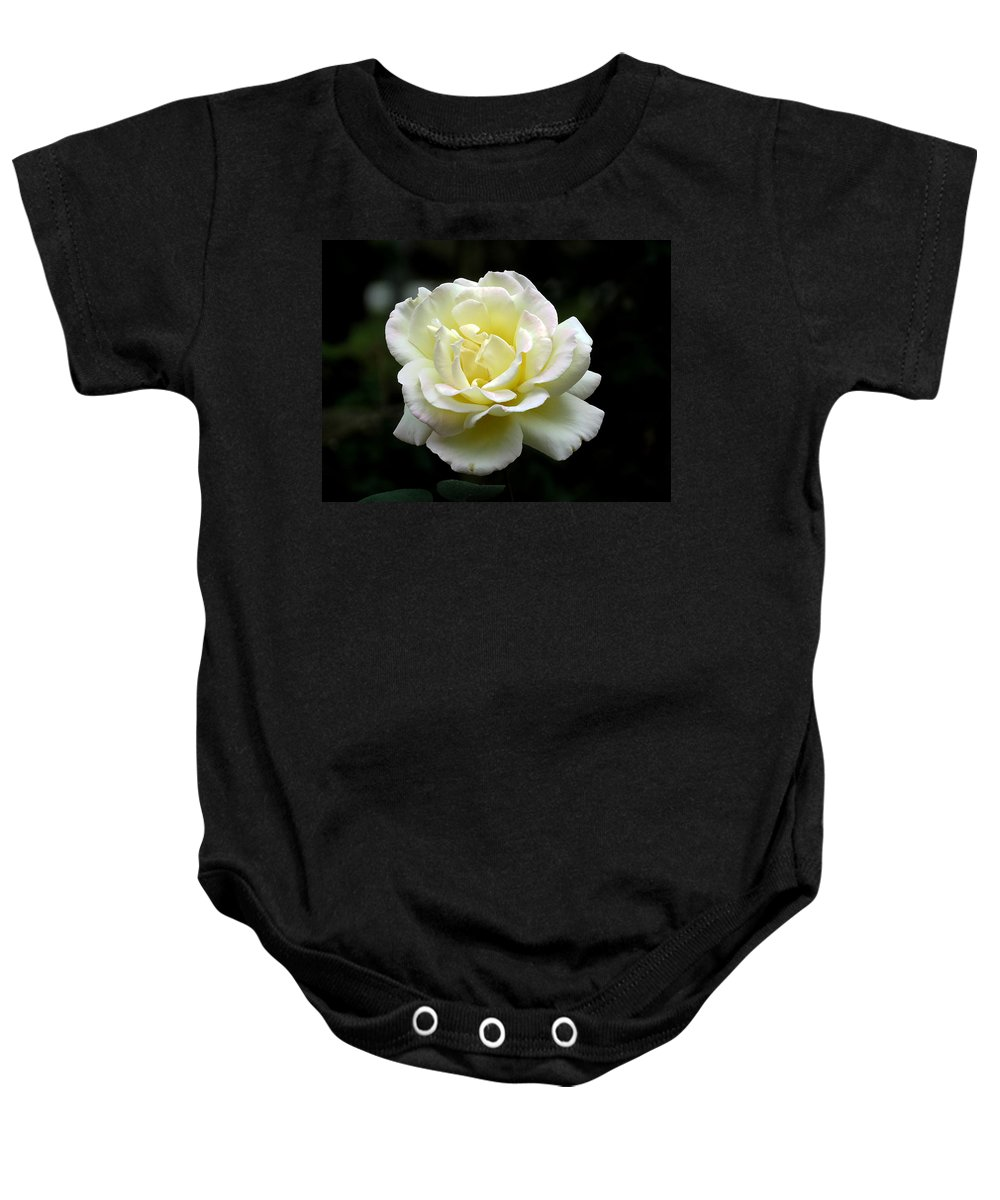 Rose Baby Onesie featuring the photograph Light Yellow Rose 1 by J M Farris Photography