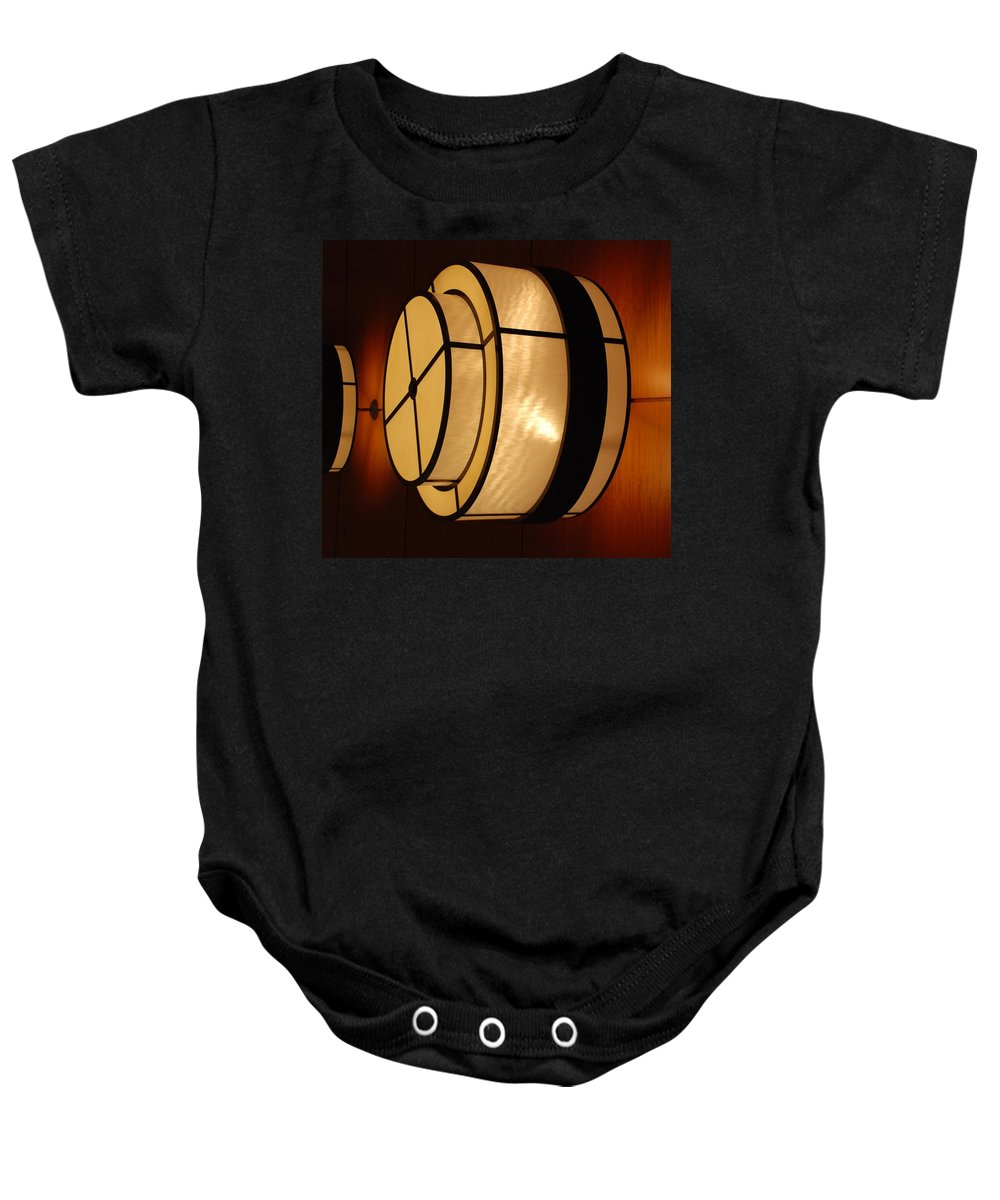 Pop Art Baby Onesie featuring the photograph Lighted Wall by Rob Hans
