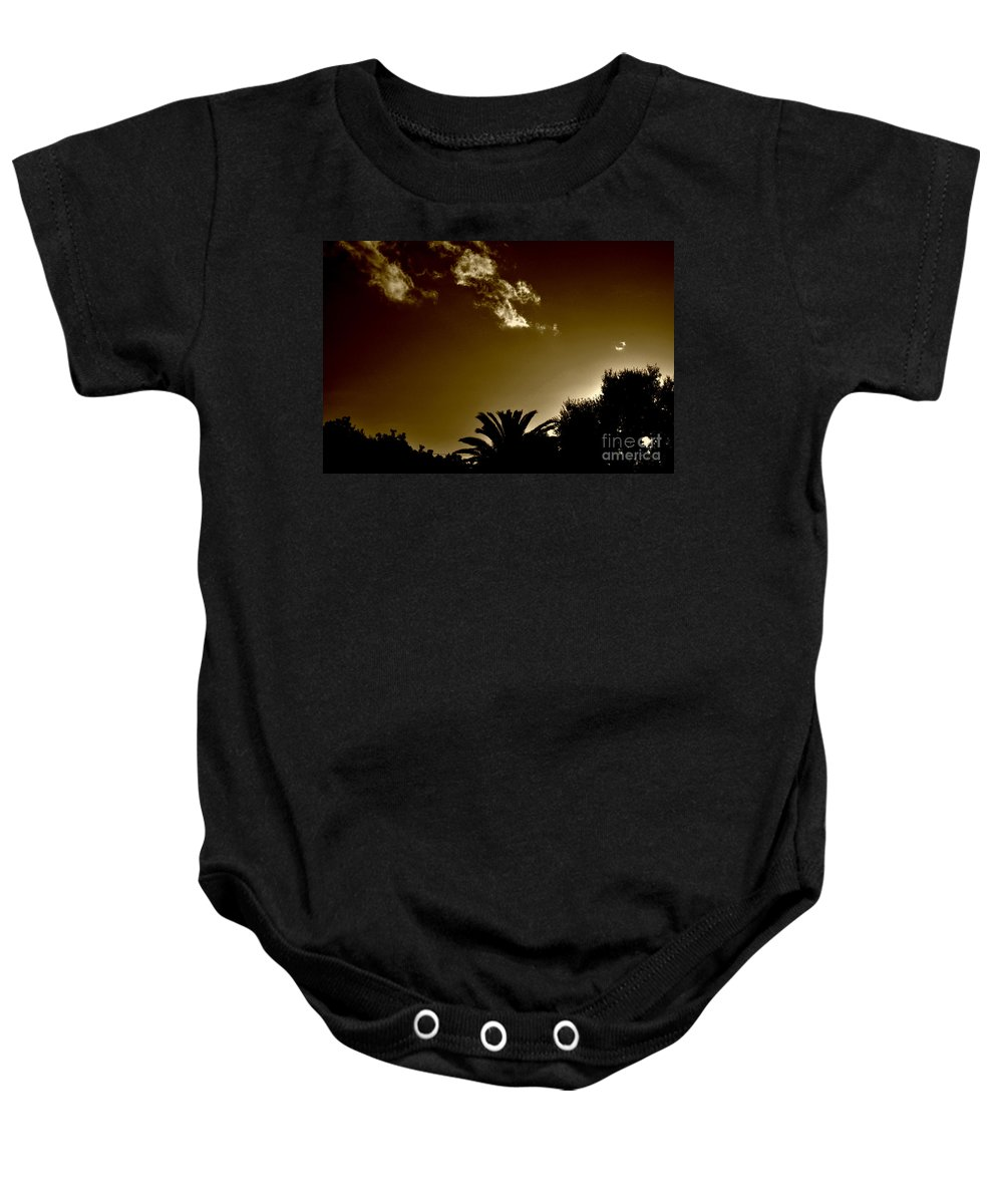 Clay Baby Onesie featuring the photograph Lights by Clayton Bruster