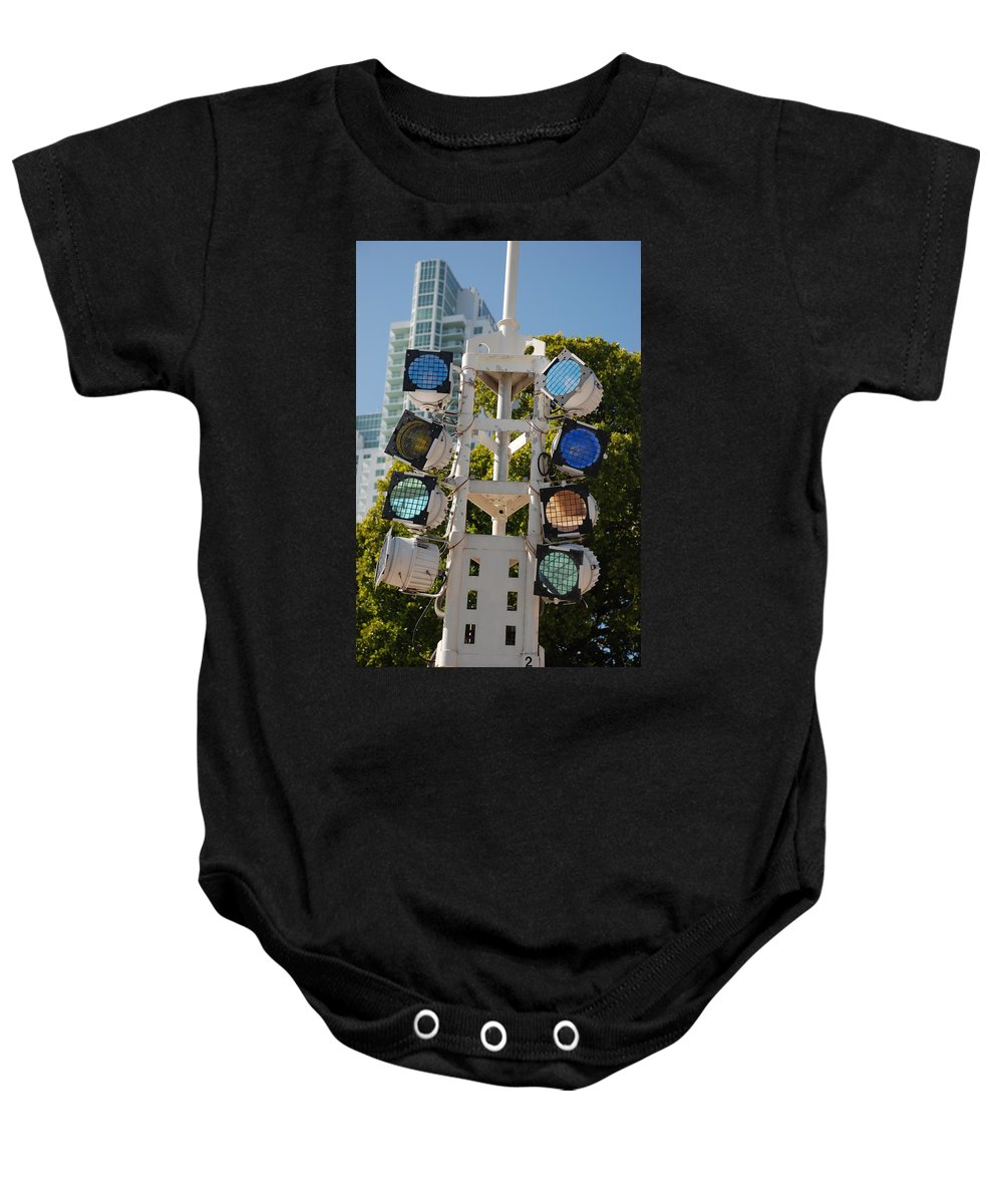 Lights Baby Onesie featuring the photograph Lights by Rob Hans