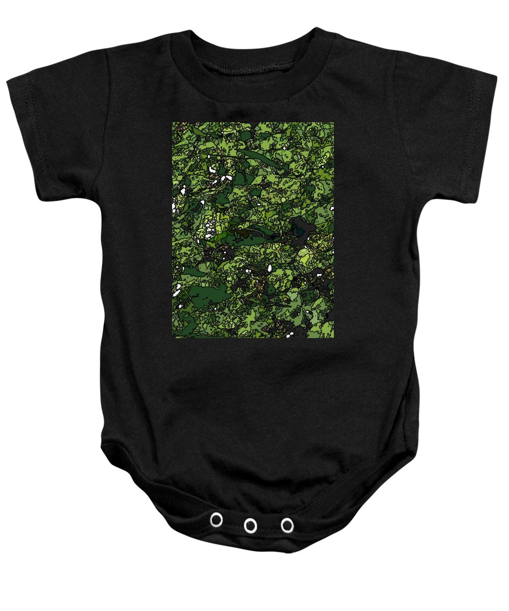 Lily Baby Onesie featuring the digital art Lilies Of The Lake by Tim Allen