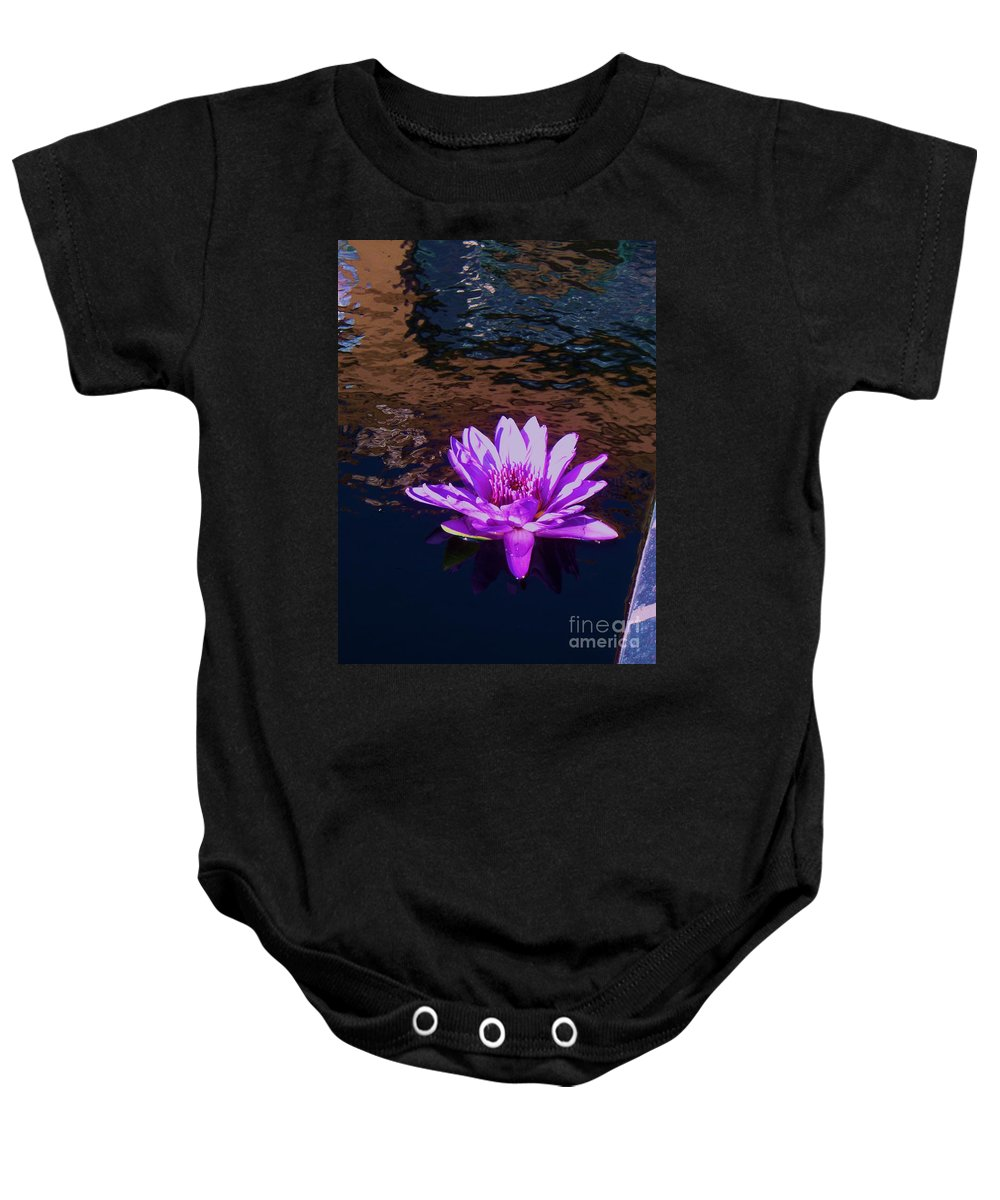 Photograph Baby Onesie featuring the painting Lily In Pond by Eric Schiabor