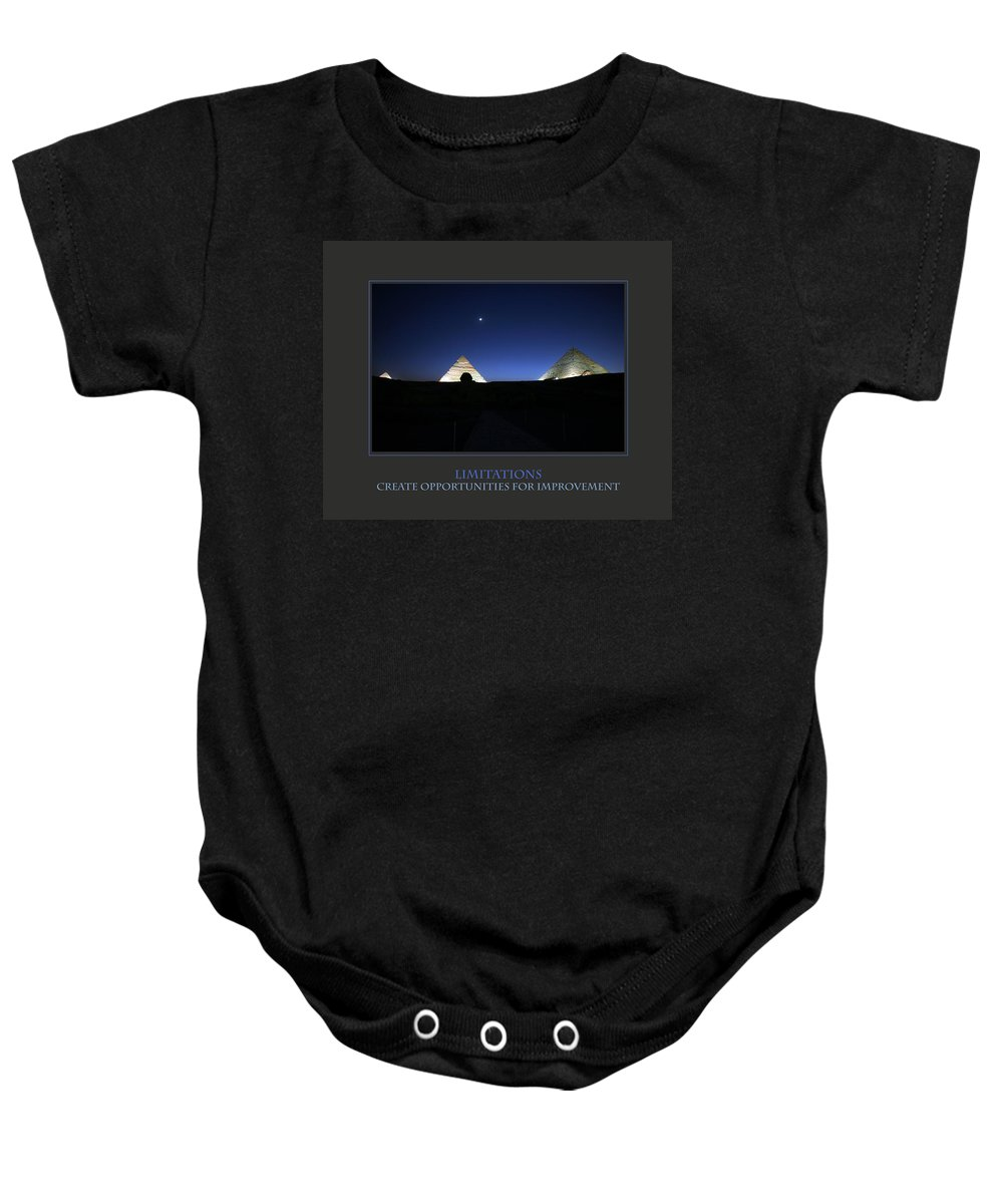 Motivational Baby Onesie featuring the photograph Limitations Create Opportunities For Improvement by Donna Corless