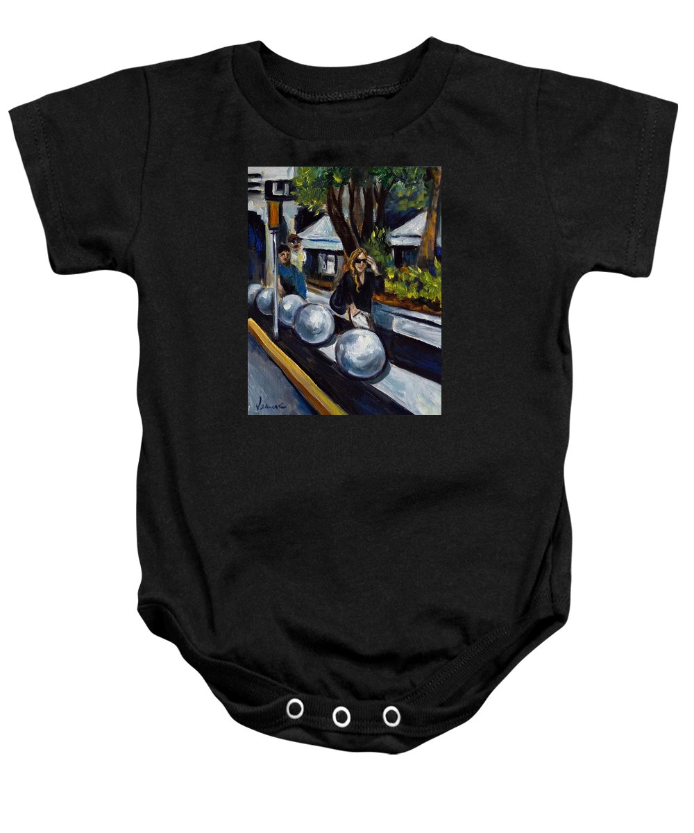 Shopping Baby Onesie featuring the painting Lincoln Road by Valerie Vescovi