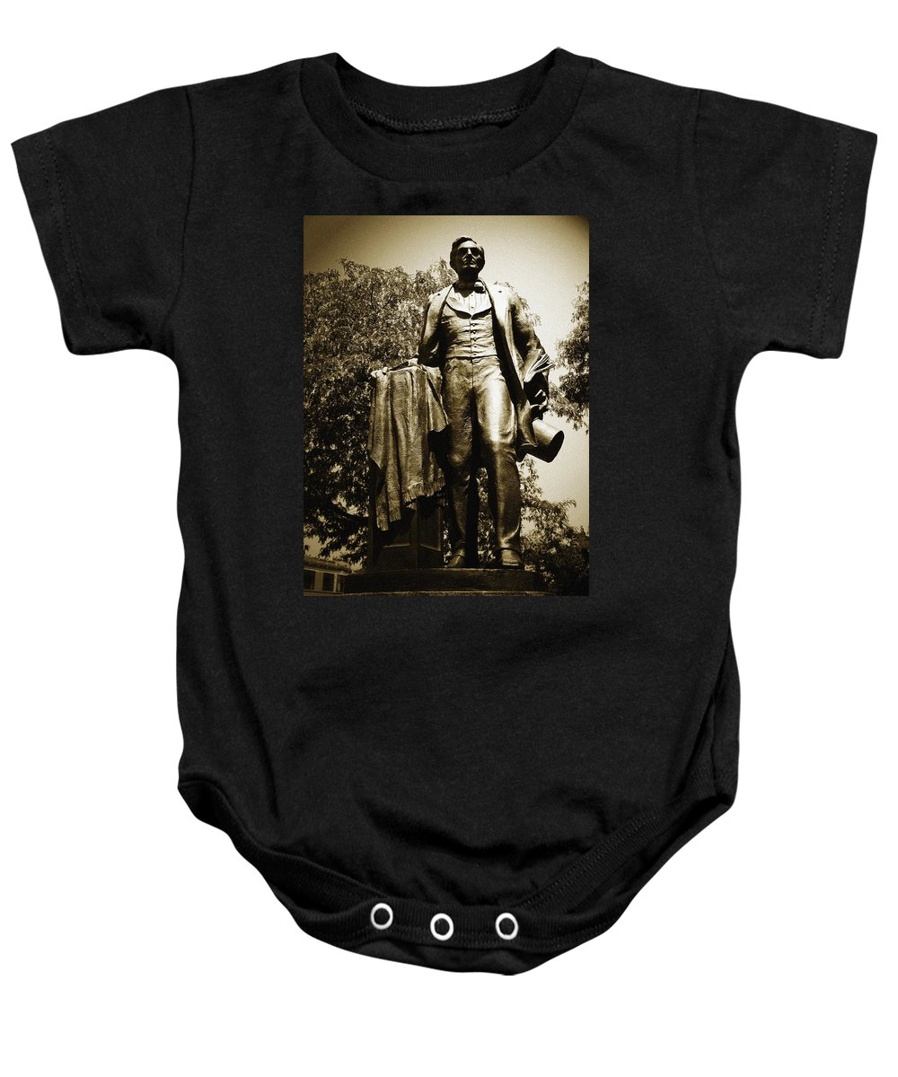 Lincoln Square Baby Onesie featuring the photograph Lincoln Square by Kyle Hanson