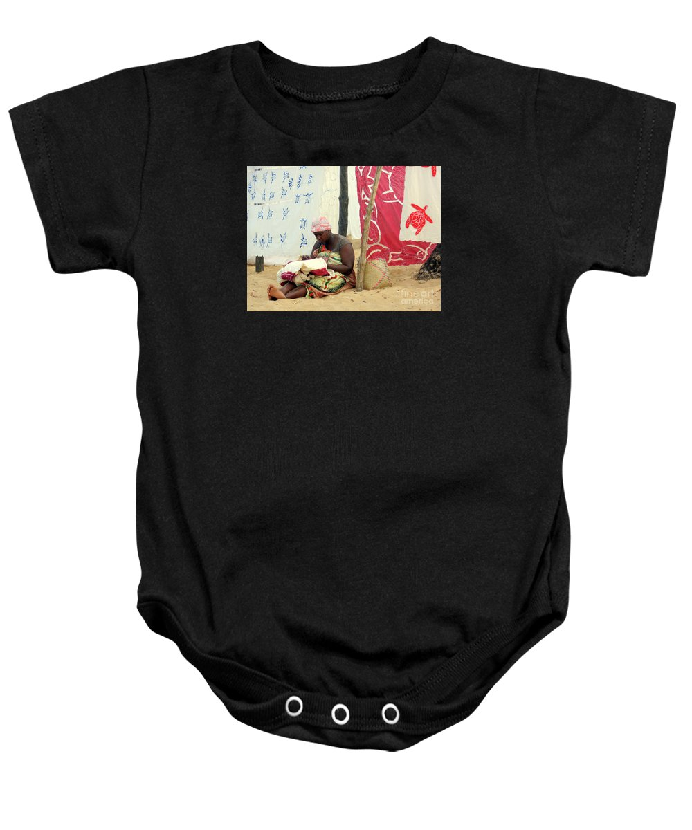Linen Baby Onesie featuring the photograph Linen For Sale Madagascar by John Potts