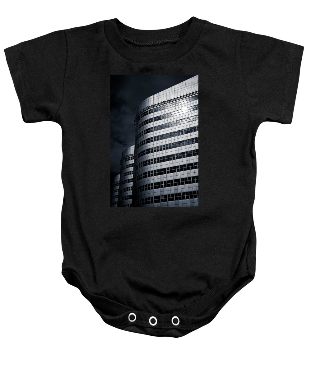 Architecture Baby Onesie featuring the photograph Lines And Curves by Dave Bowman