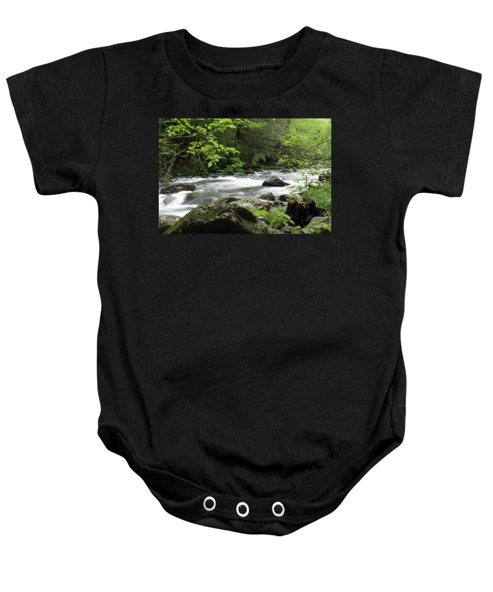 River Baby Onesie featuring the photograph Litltle River 1 by Marty Koch