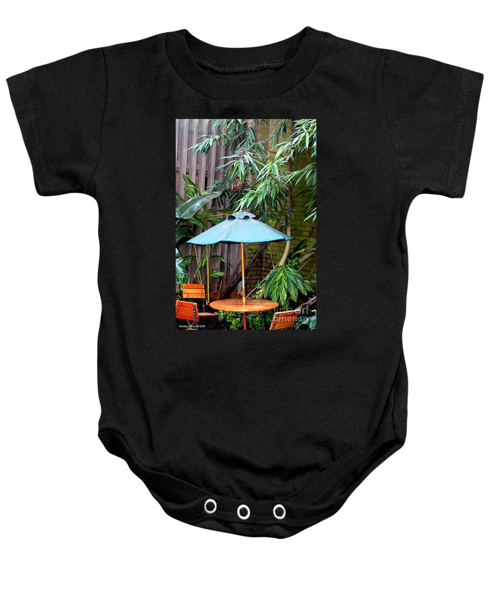 Photography Baby Onesie featuring the photograph Little Oasis by Shelley Jones