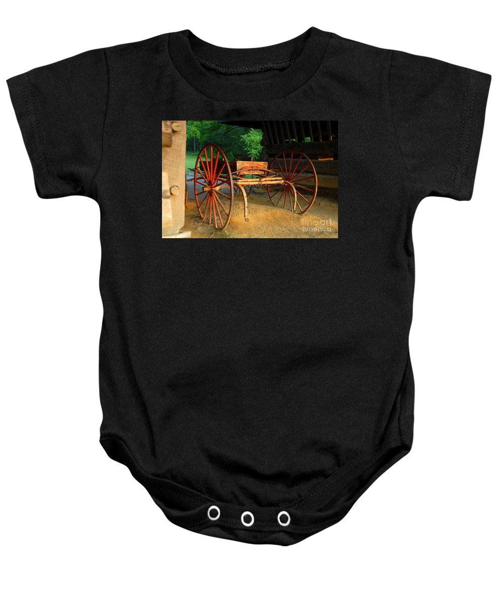 Red Baby Onesie featuring the photograph Little Red Buggy by David Lee Thompson