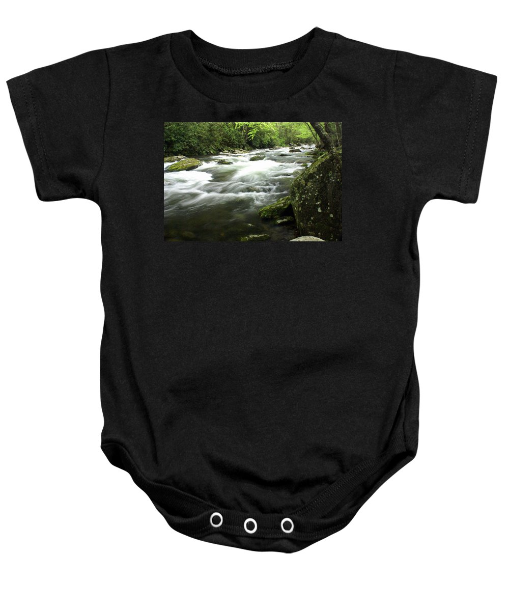 Little River Baby Onesie featuring the photograph Little River 3 by Marty Koch