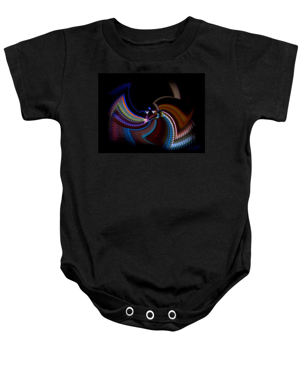 Chaos Baby Onesie featuring the photograph Little Wing by Charles Stuart