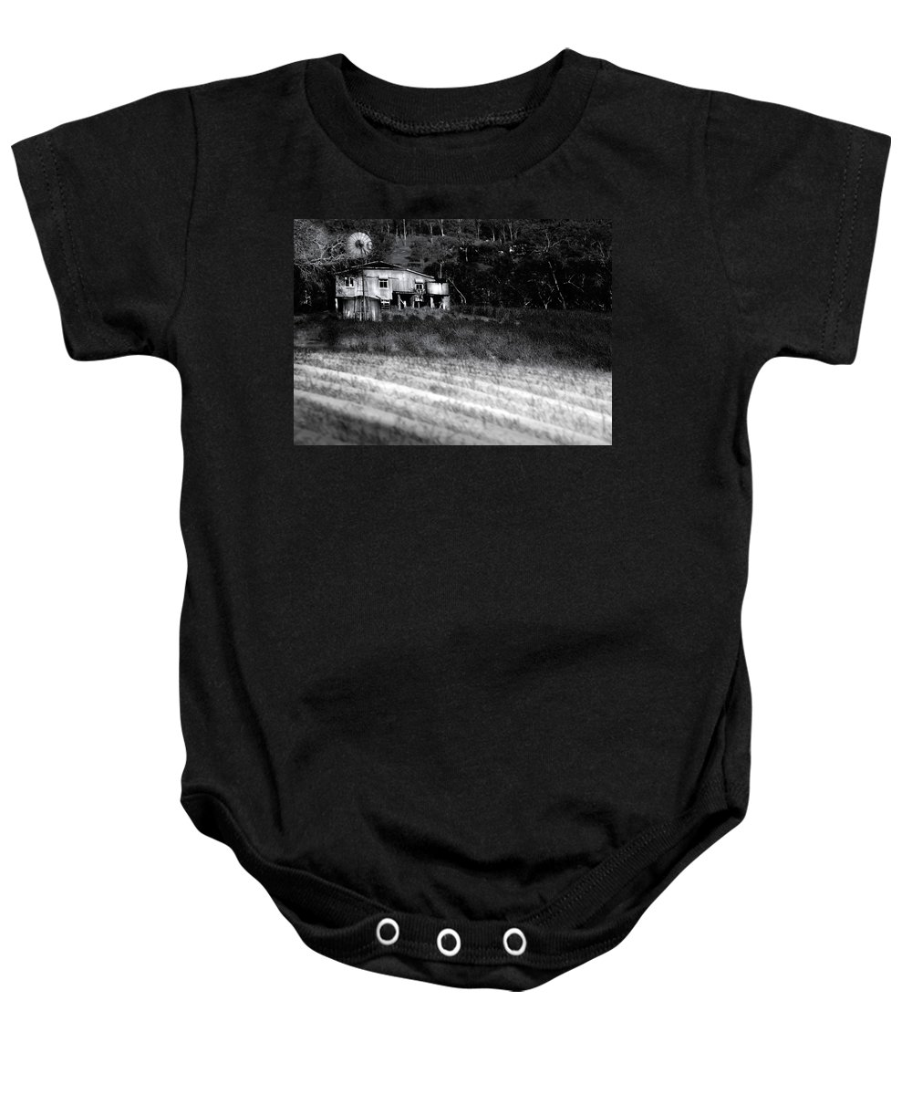 Landscapes Baby Onesie featuring the photograph Living On The Land by Holly Kempe