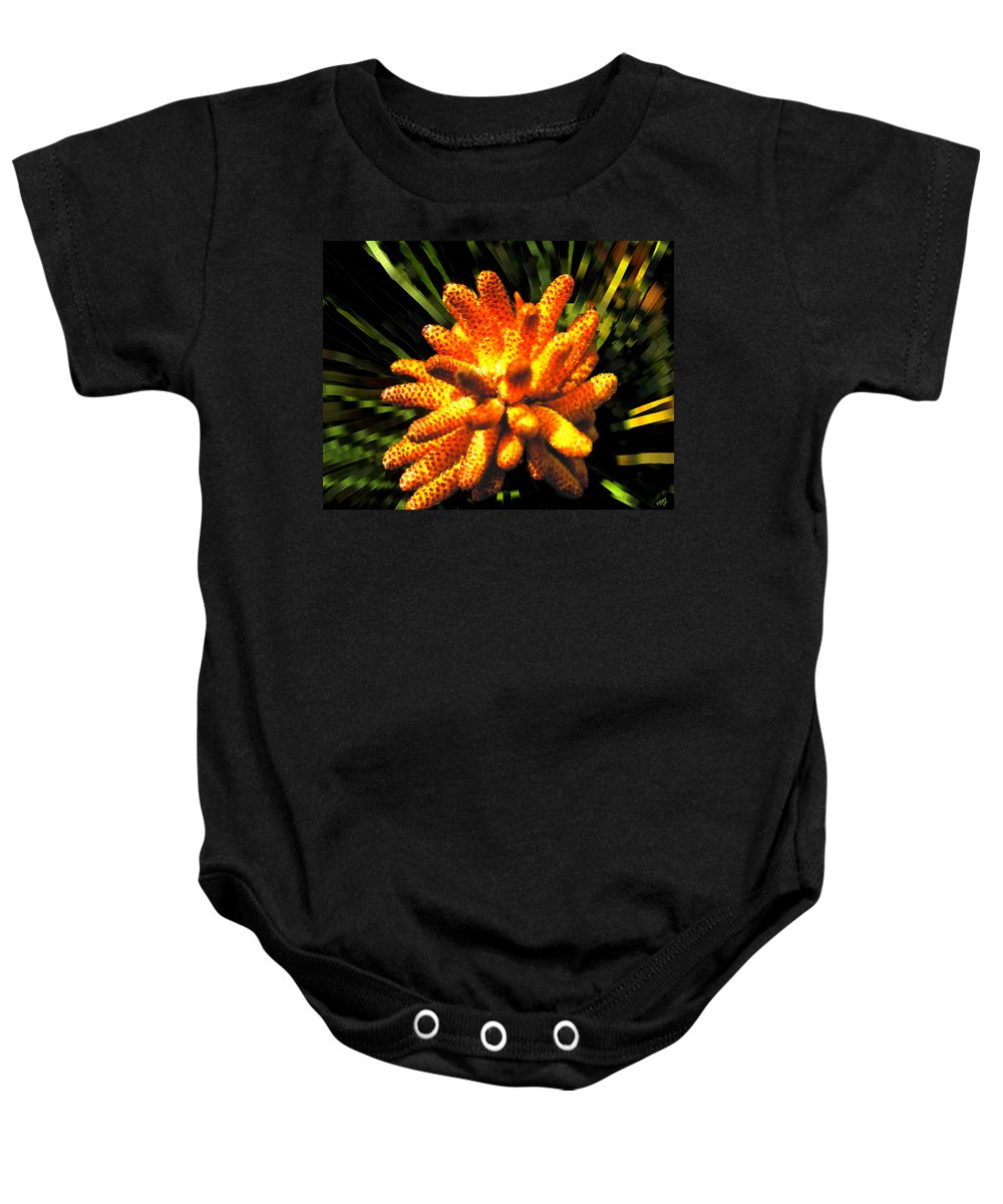 Bruce Baby Onesie featuring the painting Loblolly All A Glow by Bruce Nutting