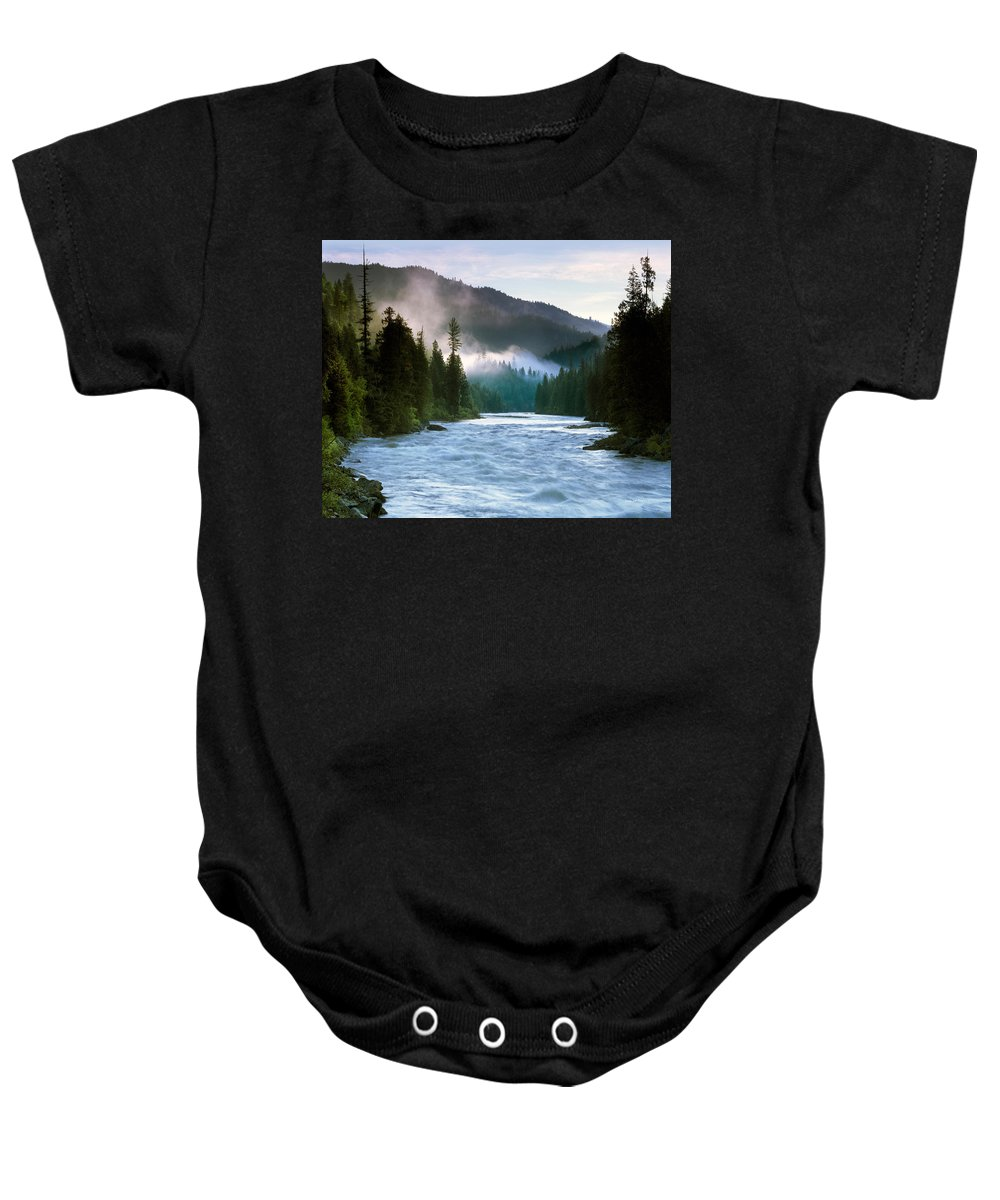 Lochsa River Baby Onesie featuring the photograph Lochsa River by Leland D Howard