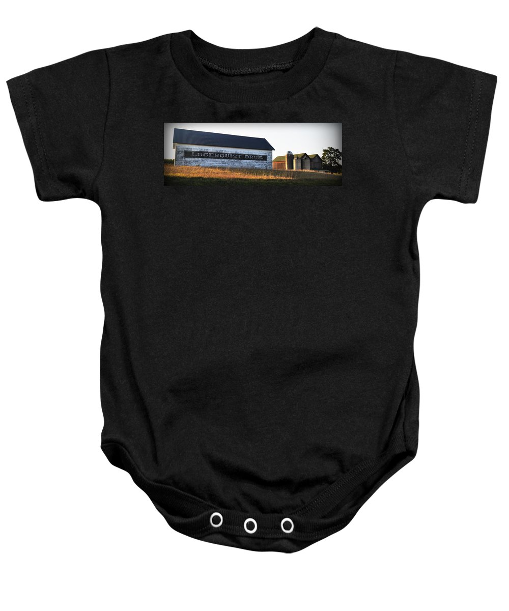 Fall Baby Onesie featuring the photograph Logerquist Bros. by Tim Nyberg