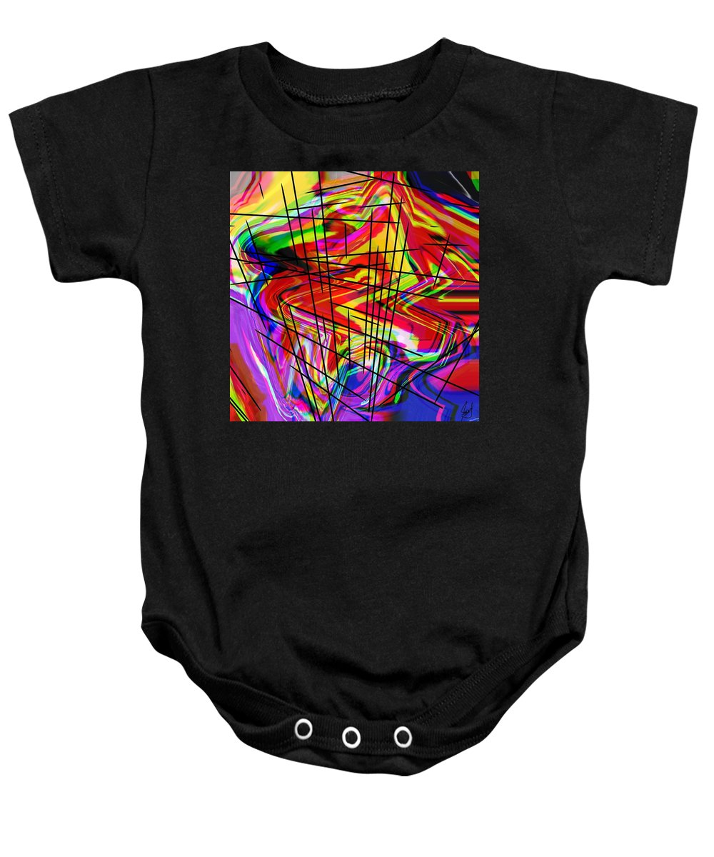 Abstract Baby Onesie featuring the digital art Lollypop by Yilmar Henry
