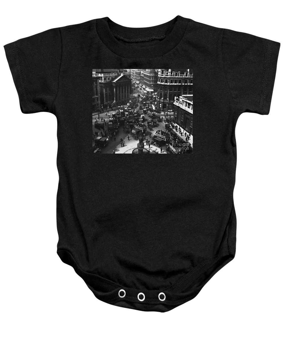 1910 Baby Onesie featuring the photograph London: Financial District by Granger